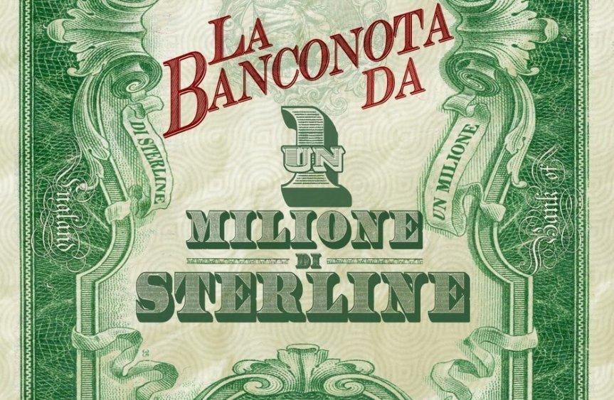 La banconota da un milione disterline